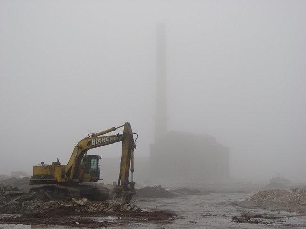 Photo: Power House in Fog